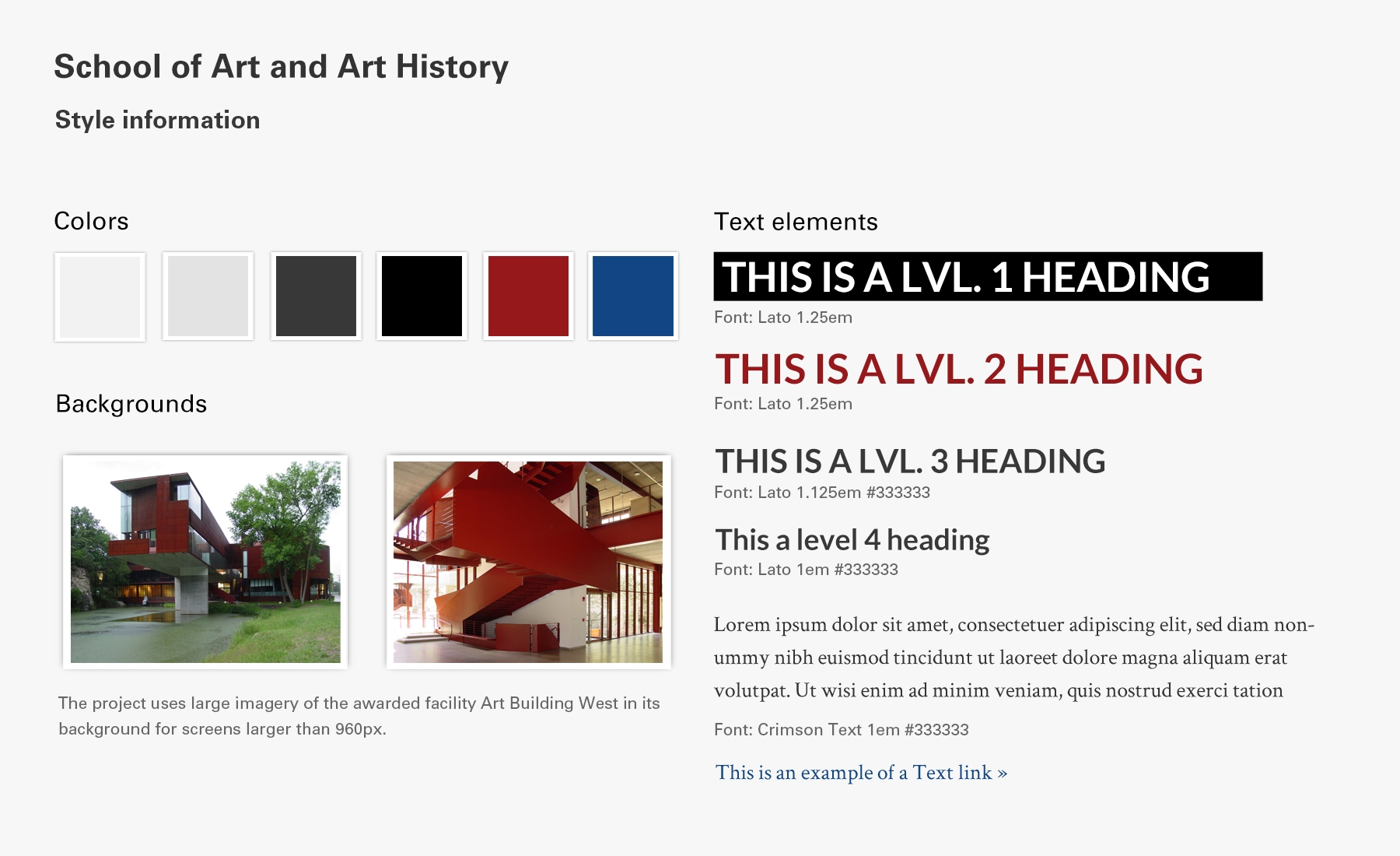 School of Art and Art History Website